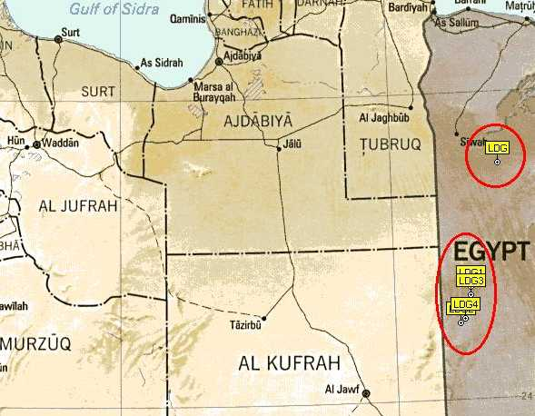 Meteorite Mailing List Archives Meteoritelist Warning About - Map of egypt libyan desert